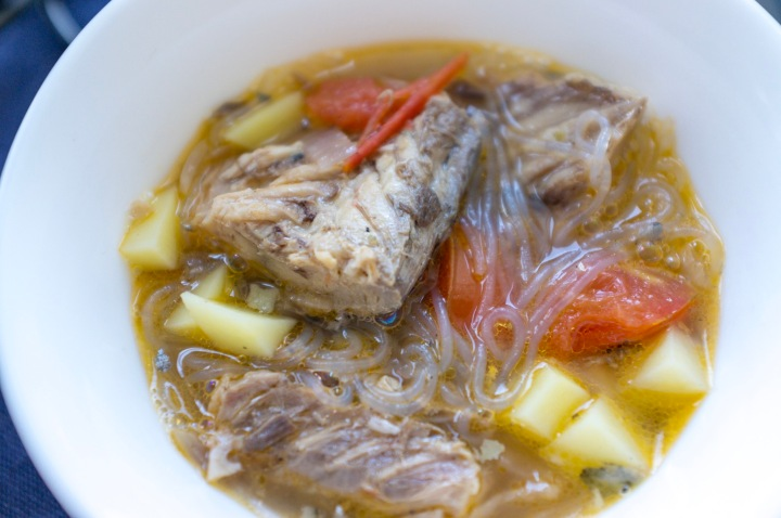 "Filipino ""Salmon"" with Sotanghon Recipe - Canned Mackerel with Vermicelli and Potatoes"